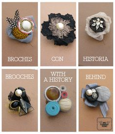 2nd Funniest Thing : DIY and unique pieces: Regalo original: broches con historia / Different gift: brooches with a history behind