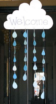 rain droplet entry way