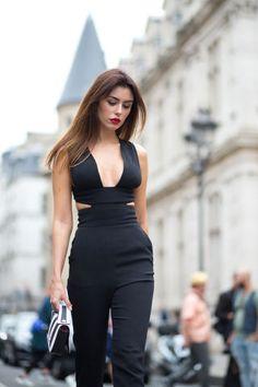 classy black // Paris Couture Week Street Style 2015 - Diego Zuko Captures Paris Couture Week 2015