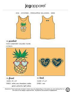 JCG Apparel : Custom Printed Apparel : Phi Mu Pineapple Glasses T-Shirt #pineapple #glasses #springbreak #tropical #stylin