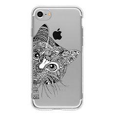 Para+Capinha+iPhone+7+/+Capinha+iPhone+7+Plus+/+Capinha+iPhone+6+Estampada+Capinha+Capa+Traseira+Capinha+Gato+Macia+TPU+AppleiPhone+7+–+EUR+€+2.93