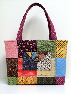 Quilted Bags Purses Totes  Charm Square  by WendysWhimzies on Etsy, $45.00