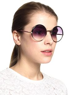 Black Oversized Round Sunglasses | Cutler and Gross | Avenue32