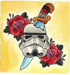 Tattoos For 'Badass' Star Wars Fans by Joshua Couchenour of Flesh Tattoo Company - DesignTAXI.com