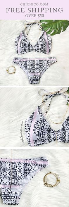 Spring! Summer $25.99 for this Gypsy Bandeau Two Piece Floral Print Tankini