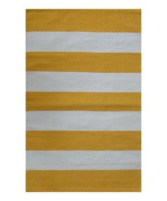Another great find on #zulily! Yellow & White Almeria Handwoven Rug #zulilyfinds