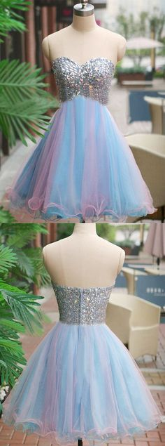 https://www.dresstells.com/a-line-sweetheart-short-mini-blue-tulle-homecoming-dress-with-crystal.html    A-line evening dress, sweetheart prom dress, short homecoming dress, mini prom dress, blue homecoming dress, tulle party dress, homecoming dress with crystal, 2016 homecoming dress, cheap blue homecoming dress, popular homecoming dress, high quality homecoming dress, #2016 #cheap #blue #homecoming
