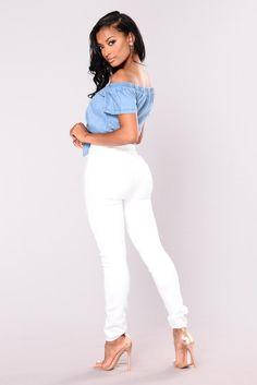 Zinthya Chambray Top - Medium Wash Blusas Cortas 60d59b273bb07