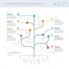 Buy Progress Tree Infographic by mir_design on GraphicRiver. Progress Tre Infographic Ideal for presentation, booklet, leaflet or website. Easily change the colors and fonts and . What Is An Infographic, Infographic Resume, Infographic Templates, Infographics Design, Flow Chart Design, Graph Design, Leaflet Design, Organizational Chart Design, Tree Diagram