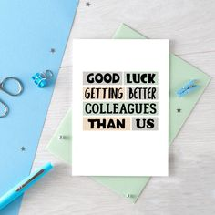 co worker card Graduation Card Father/'s Day Card new job card encouragement card funny card job promotion card Card for Boss