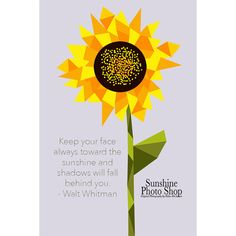 Sunflower Geometric Graphic  Keep Your Face by SunshinePhotoShop
