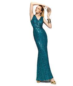 Pronovias presents the Zenobia cocktail dress from the 2013 Long Dress collection. | Pronovias