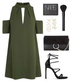"""""""Untitled #1649"""" by susannem ❤ liked on Polyvore featuring Topshop, Stuart Weitzman, Chloé, Forever 21 and NARS Cosmetics"""
