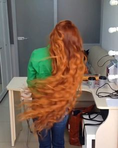 Love is in the hair ❤ trying to grow mine this long... so #hairgoals 🎬 Video Credits: Model @blakathrina Hair by @olia_kholopova 🙃 #red #hair #ginger #curls #longhair #longhairdontcare #redhead #style #hairstylist #video #bts #color #ombre #beauty #stylist #topthatpose #moda #inspiration #motivation #goals #vsco #details #instalike #instalove #womensfashion