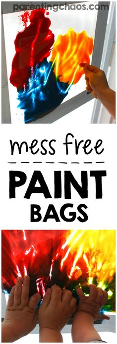 Mess Free Painting Bags are a fantastic educational activity for kids of all ages!