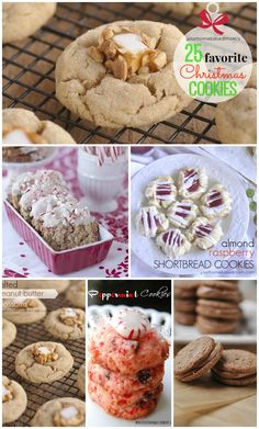 25 Favorite Christmas Cookie Recipes - perfect list of ideas for your Holiday baking!