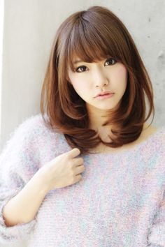 (notitle) Sure, the bushy perms of the might be out of vogue, but there are abundance (generic t Medium Long Hair, Long Hair Cuts, Wavy Hair, Medium Hair Styles, Short Hair Styles, Kawaii Hairstyles, Permed Hairstyles, Hairstyles With Bangs, Japanese Haircut