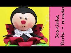 Artesanato EVA - Como fazer Lembrancinha Joaninha com Pote de Cotonete - YouTube