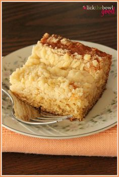 Lick The Bowl Good: Simplicity At It's Best (simple, delicious sour cream coffeecake)