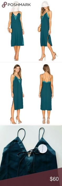 Finders Keepers Yesterday dress Finders Keepers Yesterday dress. NWT.  Petrol color - really pretty dark green. Double side slits. Finders Keepers Dresses