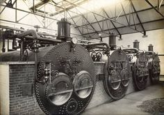 Boilers at the Havant (Brockhampton) water pumping station.