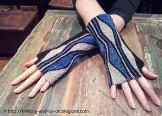 Knitting and so on: Mixed Wave Mitts
