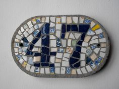 Mosaic House number in this style 2 digits by ehmosaics on Etsy, $39.00