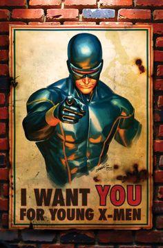 Young X-Men - Cyclops by Brandon Peterson *