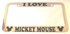 Mickey Mouse License Plate Frame Chrome