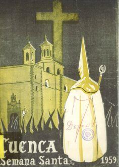 Semana Santa 1959 Programa con textos de Raúl Torres y otros, poemas de Amable Cuenca y Florencio Martínez Ruiz Portada ilustrada por Toni