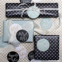 Calligraphy Wedding Stickers