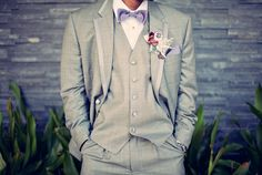 Love this instead of a boring black tux. Only change would be instead of purple mint green