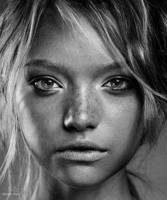 Black & white portrait