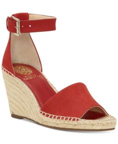 34560560616a Vince Camuto Leera Espadrille Wedge Sandals - Black 5M. Ankle Strap  WedgesAnkle StrapsWedge HeelsEspadrille WedgeRed ...