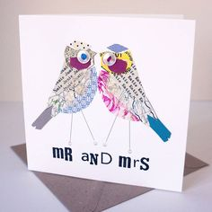 personalised mr and mrs wedding card by pratt factory | notonthehighstreet.com