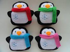 Fleece Belly Penguins -Christmas Ornaments- Penguin Ornament - Felt Ornaments - Penguin Decorations-felt Christmas ornaments-Winter Ornament