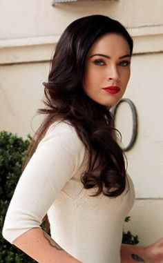 Megan Fox. Love her makeup here. Red lips are timeless