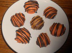 Pumpkin Cake Truffles 1 dozen Chocolate by HezziDBakesandCrafts, $10.00