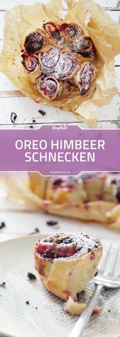 Oreo Himbeer Schnecken Rezept #oreo #hefeteig #rezept