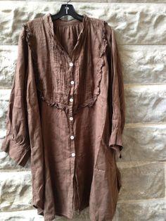 brown crinkle shirt