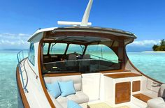 Hinkley  http://www.hinckleyyachts.com/Jetboats/t43/t43_gallery.php