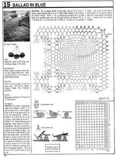 crochet blue throw - pattern