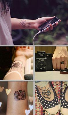 Tattoos fofas: Câmeras