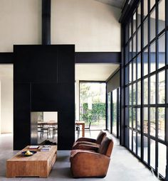 black white and wood