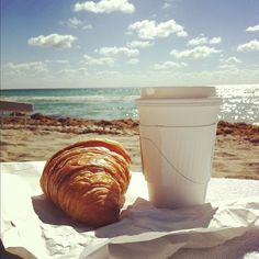 #beach #coffee #croiassant