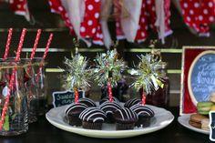Handmade tinsel cupcake topper