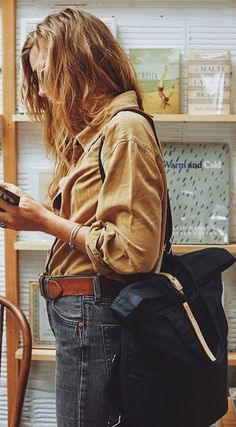 #fall #outfits Camel Shirt // Black Jeans // Camel Leather Belt