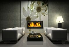 Flanel flower feature wall