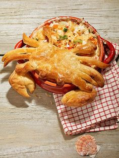 This cute crustacean will have your guests clawing their way into your party dip!