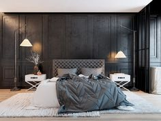 Very classic design. I like the fact that even the walls are almost black, the room looks very bright